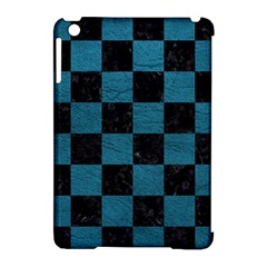 SQUARE1 BLACK MARBLE & TEAL LEATHER Apple iPad Mini Hardshell Case (Compatible with Smart Cover)