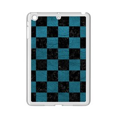 SQUARE1 BLACK MARBLE & TEAL LEATHER iPad Mini 2 Enamel Coated Cases