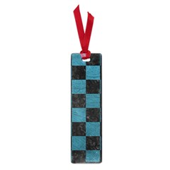 SQUARE1 BLACK MARBLE & TEAL LEATHER Small Book Marks