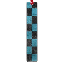 SQUARE1 BLACK MARBLE & TEAL LEATHER Large Book Marks