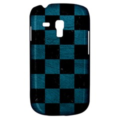 SQUARE1 BLACK MARBLE & TEAL LEATHER Galaxy S3 Mini