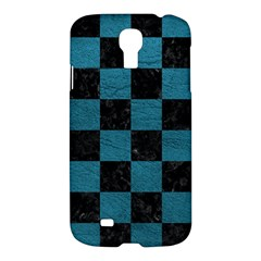 SQUARE1 BLACK MARBLE & TEAL LEATHER Samsung Galaxy S4 I9500/I9505 Hardshell Case