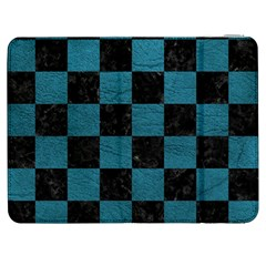 SQUARE1 BLACK MARBLE & TEAL LEATHER Samsung Galaxy Tab 7  P1000 Flip Case