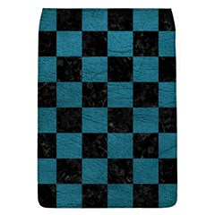 SQUARE1 BLACK MARBLE & TEAL LEATHER Flap Covers (L)