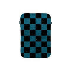 SQUARE1 BLACK MARBLE & TEAL LEATHER Apple iPad Mini Protective Soft Cases