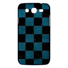 SQUARE1 BLACK MARBLE & TEAL LEATHER Samsung Galaxy Mega 5.8 I9152 Hardshell Case