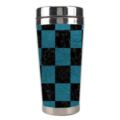SQUARE1 BLACK MARBLE & TEAL LEATHER Stainless Steel Travel Tumblers
