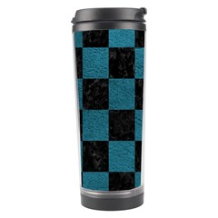 SQUARE1 BLACK MARBLE & TEAL LEATHER Travel Tumbler