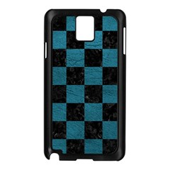 SQUARE1 BLACK MARBLE & TEAL LEATHER Samsung Galaxy Note 3 N9005 Case (Black)