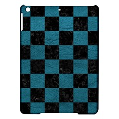 SQUARE1 BLACK MARBLE & TEAL LEATHER iPad Air Hardshell Cases