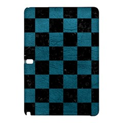 Square1 Black Marble & Teal Leather Samsung Galaxy Tab Pro 12 2 Hardshell Case by trendistuff