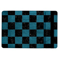 SQUARE1 BLACK MARBLE & TEAL LEATHER iPad Air Flip