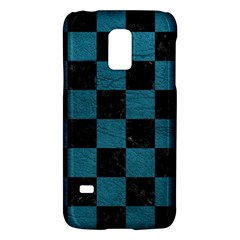 SQUARE1 BLACK MARBLE & TEAL LEATHER Galaxy S5 Mini