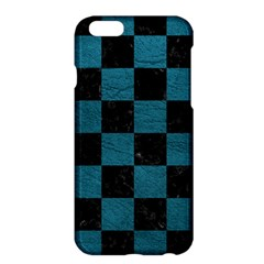 SQUARE1 BLACK MARBLE & TEAL LEATHER Apple iPhone 6 Plus/6S Plus Hardshell Case