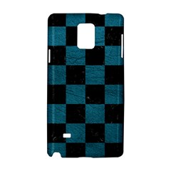 SQUARE1 BLACK MARBLE & TEAL LEATHER Samsung Galaxy Note 4 Hardshell Case