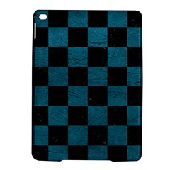 SQUARE1 BLACK MARBLE & TEAL LEATHER iPad Air 2 Hardshell Cases
