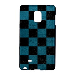 SQUARE1 BLACK MARBLE & TEAL LEATHER Galaxy Note Edge