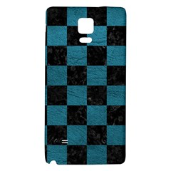 SQUARE1 BLACK MARBLE & TEAL LEATHER Galaxy Note 4 Back Case