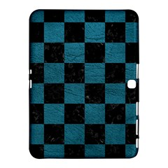 SQUARE1 BLACK MARBLE & TEAL LEATHER Samsung Galaxy Tab 4 (10.1 ) Hardshell Case