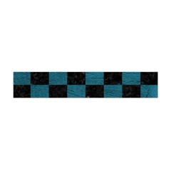 SQUARE1 BLACK MARBLE & TEAL LEATHER Flano Scarf (Mini)