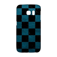 SQUARE1 BLACK MARBLE & TEAL LEATHER Galaxy S6 Edge