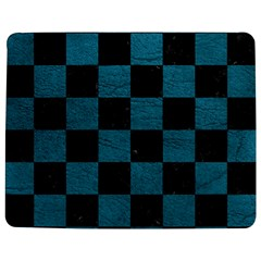 SQUARE1 BLACK MARBLE & TEAL LEATHER Jigsaw Puzzle Photo Stand (Rectangular)