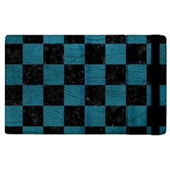 SQUARE1 BLACK MARBLE & TEAL LEATHER Apple iPad Pro 9.7   Flip Case