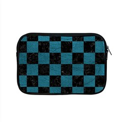 SQUARE1 BLACK MARBLE & TEAL LEATHER Apple MacBook Pro 15  Zipper Case