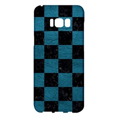 SQUARE1 BLACK MARBLE & TEAL LEATHER Samsung Galaxy S8 Plus Hardshell Case
