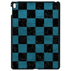 SQUARE1 BLACK MARBLE & TEAL LEATHER Apple iPad Pro 9.7   Black Seamless Case