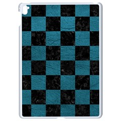 SQUARE1 BLACK MARBLE & TEAL LEATHER Apple iPad Pro 9.7   White Seamless Case