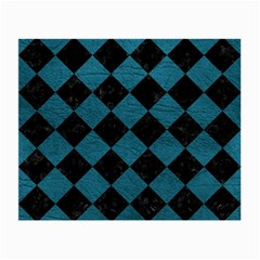 Square2 Black Marble & Teal Leather Small Glasses Cloth by trendistuff