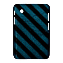 Stripes3 Black Marble & Teal Leather Samsung Galaxy Tab 2 (7 ) P3100 Hardshell Case  by trendistuff
