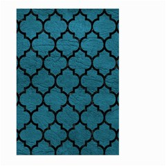 Tile1 Black Marble & Teal Leather Large Garden Flag (two Sides) by trendistuff