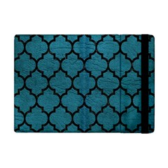 Tile1 Black Marble & Teal Leather Apple Ipad Mini Flip Case by trendistuff