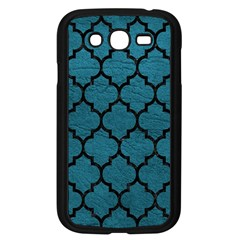 Tile1 Black Marble & Teal Leather Samsung Galaxy Grand Duos I9082 Case (black)