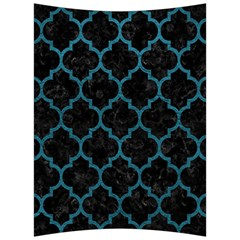 Tile1 Black Marble & Teal Leather (r) Back Support Cushion by trendistuff
