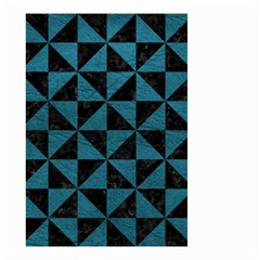 Triangle1 Black Marble & Teal Leather Small Garden Flag (two Sides) by trendistuff