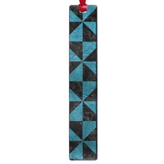 Triangle1 Black Marble & Teal Leather Large Book Marks by trendistuff