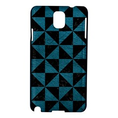 Triangle1 Black Marble & Teal Leather Samsung Galaxy Note 3 N9005 Hardshell Case by trendistuff
