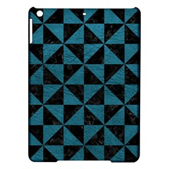 Triangle1 Black Marble & Teal Leather Ipad Air Hardshell Cases by trendistuff