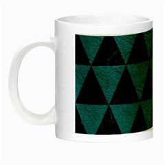 Triangle3 Black Marble & Teal Leather Night Luminous Mugs by trendistuff