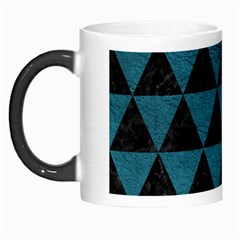 Triangle3 Black Marble & Teal Leather Morph Mugs by trendistuff