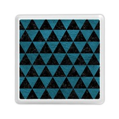 Triangle3 Black Marble & Teal Leather Memory Card Reader (square)  by trendistuff