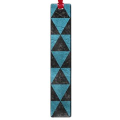Triangle3 Black Marble & Teal Leather Large Book Marks by trendistuff