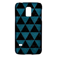 Triangle3 Black Marble & Teal Leather Galaxy S5 Mini by trendistuff