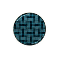 Woven1 Black Marble & Teal Leather Hat Clip Ball Marker by trendistuff