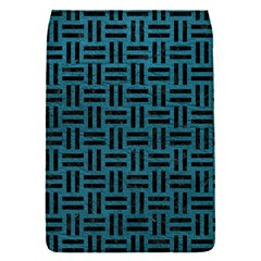 Woven1 Black Marble & Teal Leather Flap Covers (s)  by trendistuff