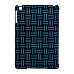 Woven1 Black Marble & Teal Leather (r) Apple Ipad Mini Hardshell Case (compatible With Smart Cover) by trendistuff