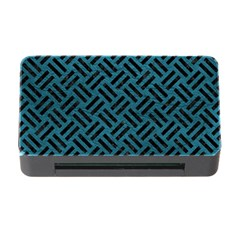 Woven2 Black Marble & Teal Leather Memory Card Reader With Cf by trendistuff